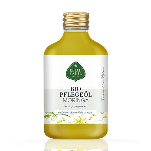 FEINSTES BIO MORINGA Öl - parfümfrei, ohne künstliche Zusatzstoffen, kaltgepresst - 100% BIO zertifizierte Naturkosmetik - VEGAN und Tierversuchsfrei - 100 ML Moringaöl