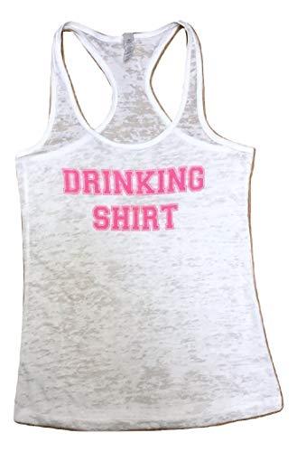 Women's Burnout Racerback Tank Top- Drinking Shirt -Women's Burnout Racerback Tank Top- 4 Colors Available (X-Large, White)