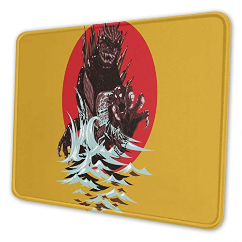 XCNGG Alfombrilla para ratón Godzill_a Mouse Pad Mat Gaming Unique Custom Mousepad, Computer Keyboard, Stitched Edges, Office Ideal for Desk Cover, Large Mouse Pats, Laptop and PC 7.9 x 9.5 in