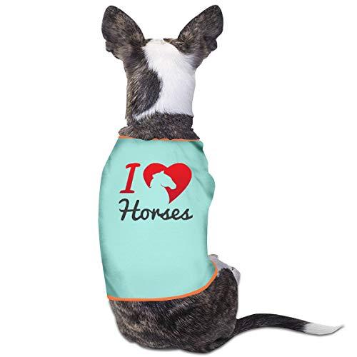 Jiaojiaozhe I Love Paarden Huisdier Service Huisdier Kleding Grappige Hond Kat Kostuum Tshirt Sky Blauw, L, Blauw