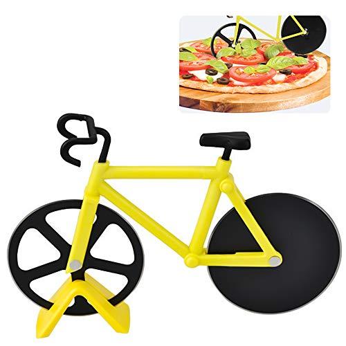 Taglia Pizza a Forma di Bicicletta, ZoneYan Rotella Tagliapizza Bicicletta, Bike Pizza Cutter, Tagliapizza Doppio in Acciaio Inox, Per il Taglio Della Pizza o Come Decorazione da Cucina