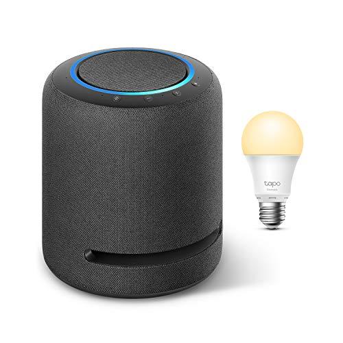Echo Studio + TP-Link Tapo Bombilla Inteligente (E27), compatible con Alexa