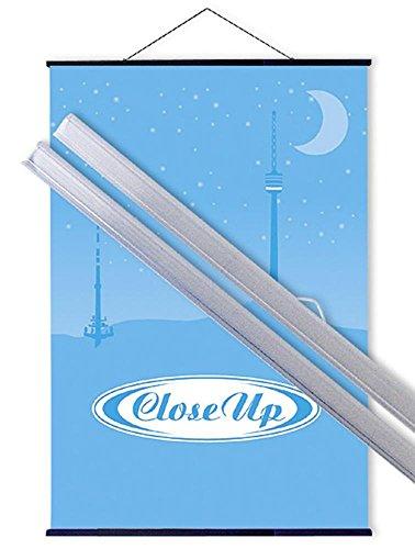Close Up Kunststoff Posterleisten transparent (91,5 cm) Poster-Aufhänger, Posterschienen, Plakatleisten, Klemmschienen (36 inch)