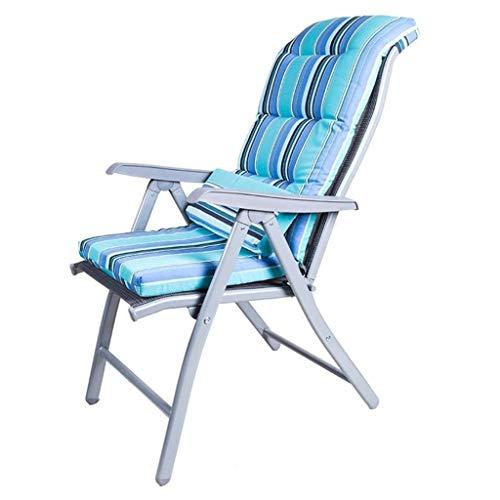 CHGDFQ Sedia Pieghevole adagiantesi a gravità Zero, sedie da Sdraio reclinabili in Tessuto Resistente alle intemperie (Color : Gray Plus Blue Mat, Size : 69 * 60 * 110cm)