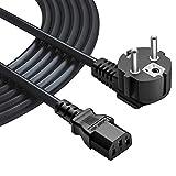 MEROM Cavo di Alimentazione Computer per Apparecchi freddi TV PC PS3 / PS4 PRO Stampanti Monitor Fotocamere Laptop Alimentatore Cavo nero IEC C13 3 pin eur Cavo 2.5ft