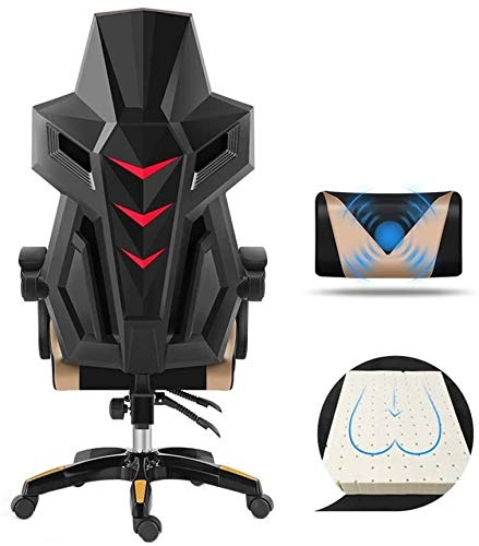 Xiuyun Swivel chair Racing Chair, With Footrest Height Adjustable One-piece Seat Back PU Leather Chair High Back Gaming Chair With Massage Lumbar Support Athletic Chair (Color : C)