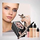 Luminess Airbrush Makeup Silk 4 IN 1 System Rose Gold & Black (Medium)...