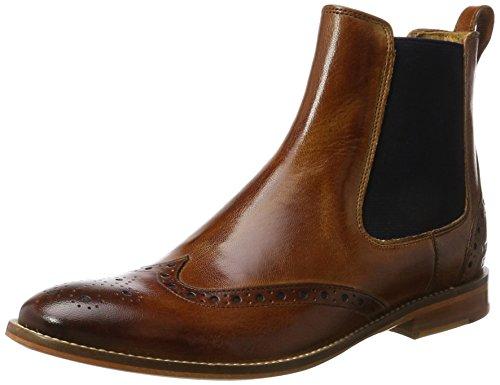 Melvin & Hamilton Damen Amelie 5 Chelsea Boots, Braun (Venice Tan, Ela. Navy, LS NAT.), 41 EU