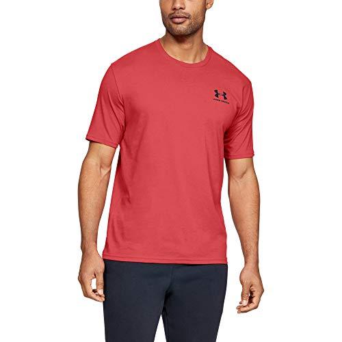 Under Armour Herren Sportstyle Logo Tank sportliches Muskelshirt aus superweichem Stoff, ärmelloses Sportshirt mit loser Passform, Rot (Martian Red/Martian Red (646)), 2XL