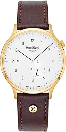 Bruno Söhnle Herren Analog Quarz Uhr mit Echtes Leder Armband 17-33212-261