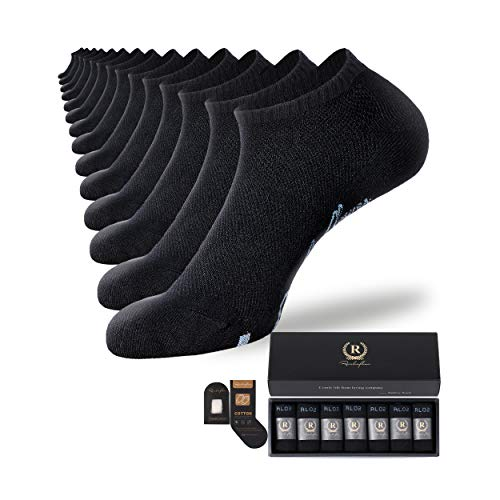 Rainbow flower 7 Pairs Black Ankle Socks for Men and Women Athletic Running Socks Low Cut Compression High Stretch Seamless Toe Full Size Gift Box