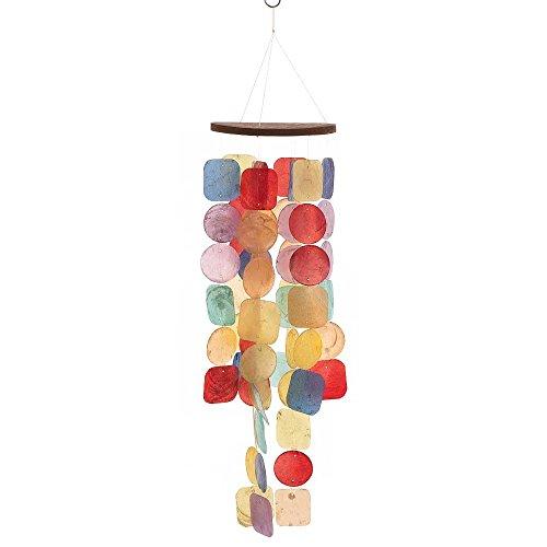HAB & GUT -HA0P2- Carillon à Vent Multicolore en Nacre, 63 cm, décoration de fenêtre, Mobile pour décorer fenêtre, terrasse et Balcon