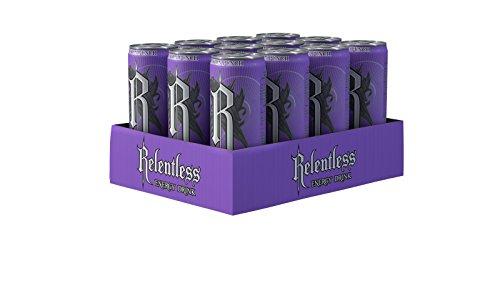 Relentless Passion Punch Exotischer Energy Drink, Unerbittliche, fruchtige Power aus der Dose, Koffein Drink, EINWEG Dose (12 x 355 ml)