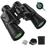 Prismáticos de 12 x 50 para adultos, HD profesional/IPX7 resistente al agua con baja visión nocturna, prisma de porro BAK4 FMC lente de observación de aves, viajes, turismo, caza, fauna y conciertos