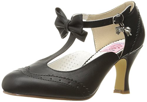 Pinup Couture Damen FLAPPER-11 Pumps, Schwarz (Blk Faux Leather), 39 EU