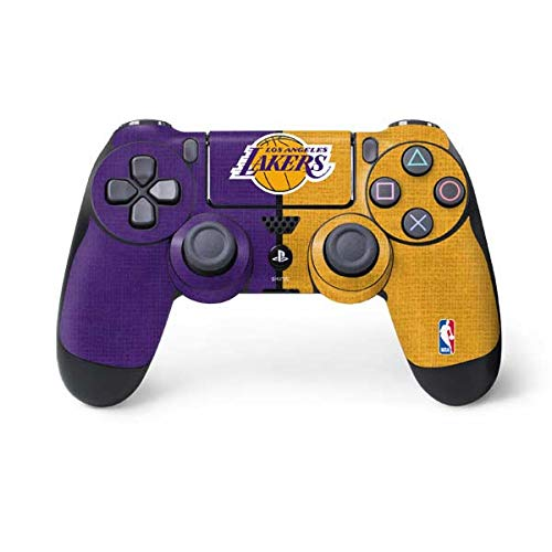 Skinit Decal Gaming Skin for PS4 Controller - Officially Licensed NBA Los Angeles Lakers Canvas Design