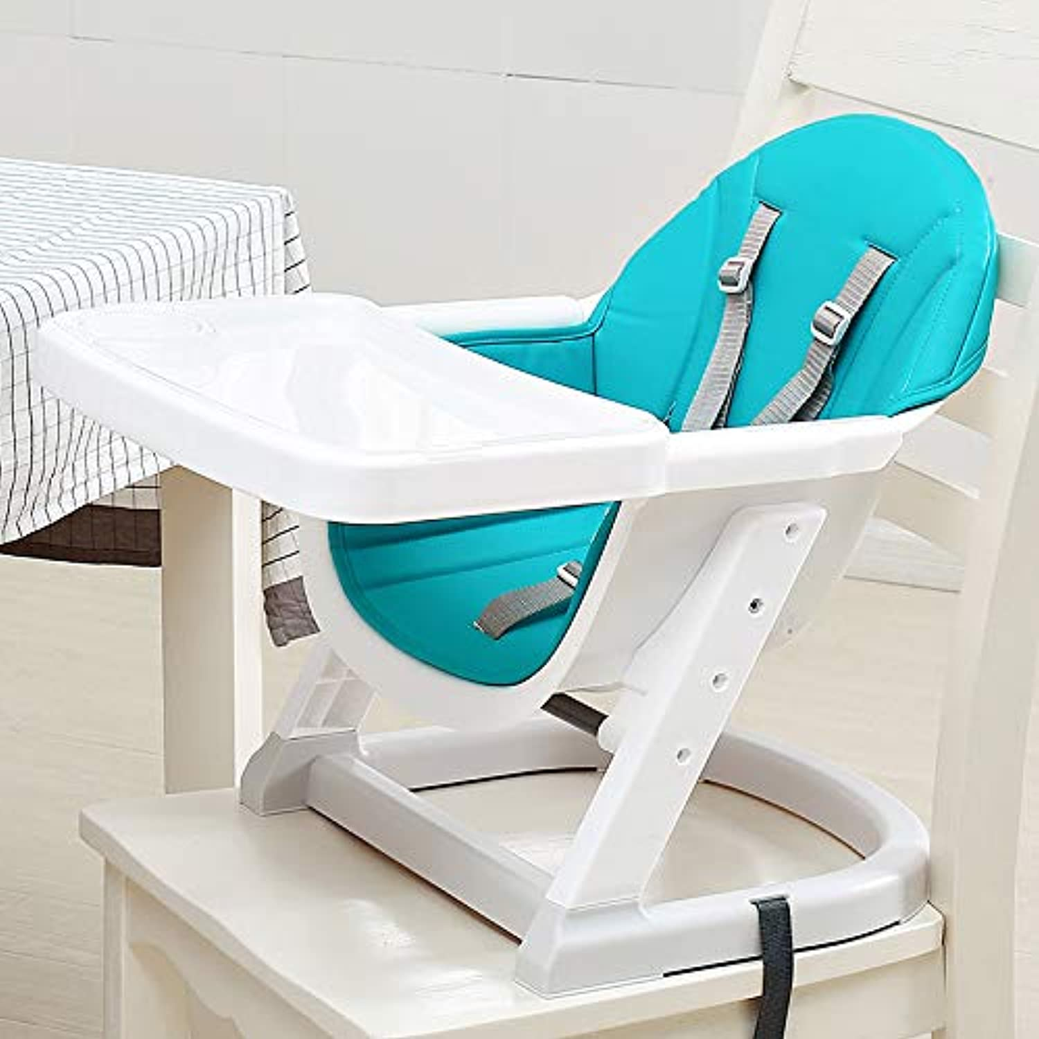 Multifunctional Baby Backrest Chair - Adjustable in Two Heights with Plate and Seat Belt