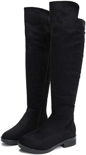 XHCP Stiefel Largas Sobre La Rodilla Stiefel Laterales damen Cremallera Stiefel Altas Planas Stiefel Largas,34