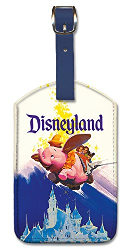 Pacifica Island Art Leatherette Luggage Tag Baggage Label - Disneyland Dumbo