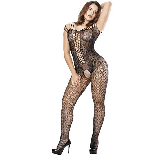 Sexy Unterwäsche Damen Erotik Set Erotik Dessous Frauen Dessous für Mollige Negligee Dessous Sexy Große Größen Desouses Sexy Reizwäsche Erotik Plus Size Lingerie Nachthemden Damen,Black,XL