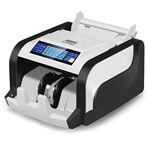 Bisbro Technology Professional BB-2608 - Conta banconote false istantaneamente, rilevatore di banconote, conta in modo sicuro 1000 banconote al minuto, euro, dollaro americano, libbre