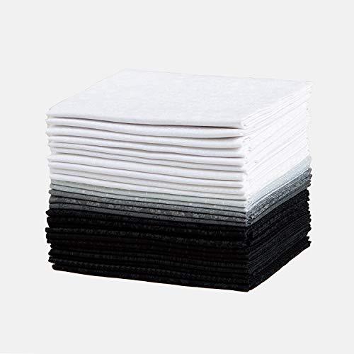 Connecting Threads Print Collection Precut Cotton Quilting Fabric Bundle Fat Quarters (Monochrome)