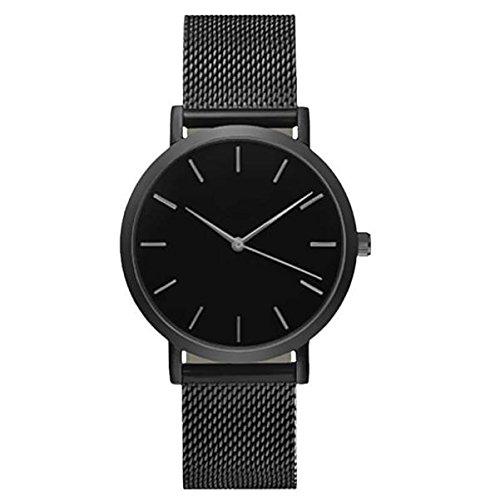 Orologio da polso da donna analogico al quarzo con cinturino in acciaio inox, orologio da polso da donna, design alla moda, orologio al quarzo, regalo 2019 Leedy.