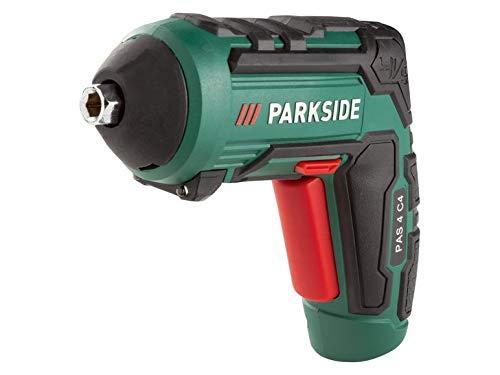 PARKSIDE® Akkuschrauber PAS 4 C4 Akku Bohrschrauber Akkuschrauber Bohrmaschine mit 30 Bits, USB-Ladegerät