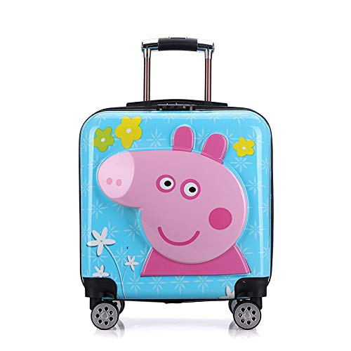 SONGXZ Kinderkoffer Universal Wheel Boarding Kinder Trolley Cartoon 20 Zoll Koffer