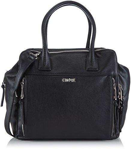Cinque Damen Rachelle Handtasche mit Reißverschluss Henkeltaschen, Schwarz (schwarz 9000), 28x29x16 cm