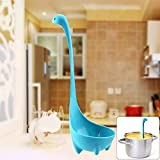 Bastex Cartoon Dinosaur Nessie Soup Ladle Loch Ness Monster Design Utensil Spoon SLD - Blue, One Size. Cute Dino Cooking Tools