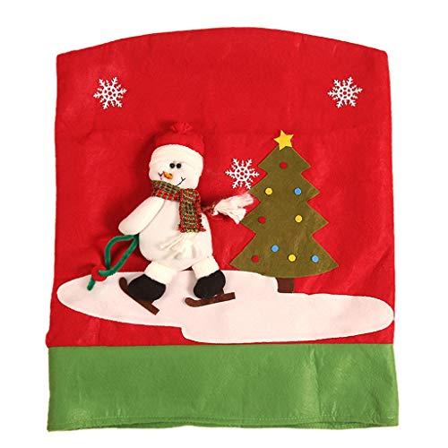 Huacat Weihnachtsmann Bart Stuhlkissen Paket Stück Weihnachts Stuhlhussen Stuhlabdeckung Weihnachten Stuhl Hussen