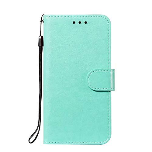 Nokia 3.2 Hülle, HandyHülle Kompatible für Nokia 3.2 Leder Flipcase SchutzHülle Tasche Cover Etui Brieftasche Flipcover mit Ständer und Magnetverschluss Grün