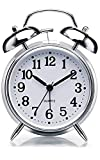 VN Stores Vintage Look Twin Bell Table Alarm for Heavy Sleepers Wind-Up Clock with Night Led Light...