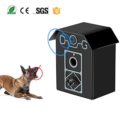 Gshine Sonic Bark Control Outdoor Bark Controller, Dog Anti Barking Device Stop Barking Dogs Silencer Bark Breaker (Anti Barking Device)
