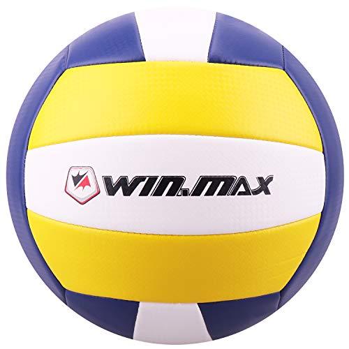 WIN.MAX eachvolleyball,Volleyball,Beach und Funball Größe 5 Weicher Ballkontakt (Blau/Gelb