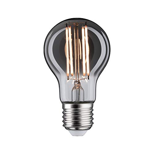 Paulmann 28604 LED Lampe Vintage AGL 7,5 Watt Retro Leuchtmittel dimmbar Rauchglas Glas 2200 K Goldlicht E27