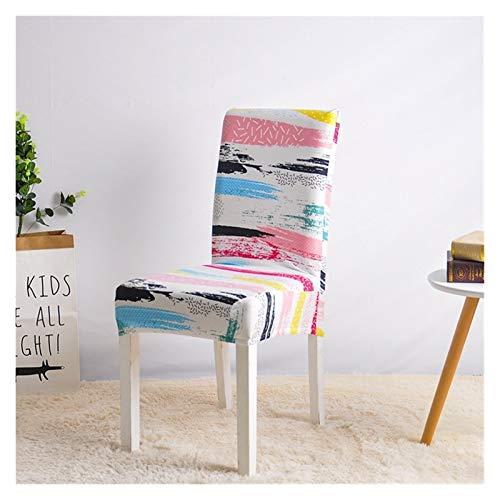 WQAZ Weicher Stuhlbezug Stuhlabdeckung für Esszimmer Spandex Küchensitz Slipcover für Bankett Hochzeits-Party Restaurant Housse de Chaise 1PC Samtmaterial (Color : Color6, Specification : 1PC)
