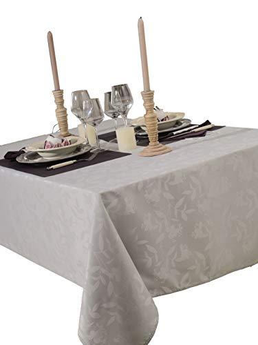 CALITEX Tischdecke Damassee Ombra grau Perle 150x 350