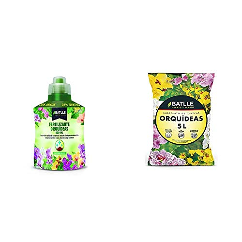Abonos - Fertilizante Orquideas Botella 400ml. - Batlle + Sustratos - Sustrato Orquídeas 5l. - Batlle