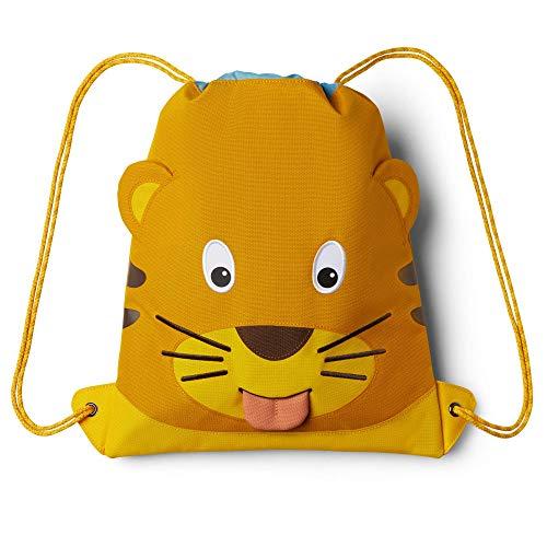 Affenzahn Unisex– Kinder Tiger Kindersportbeutel, Gelb, 28.5 x 36.5 x 0.5 cm (B/H/T)