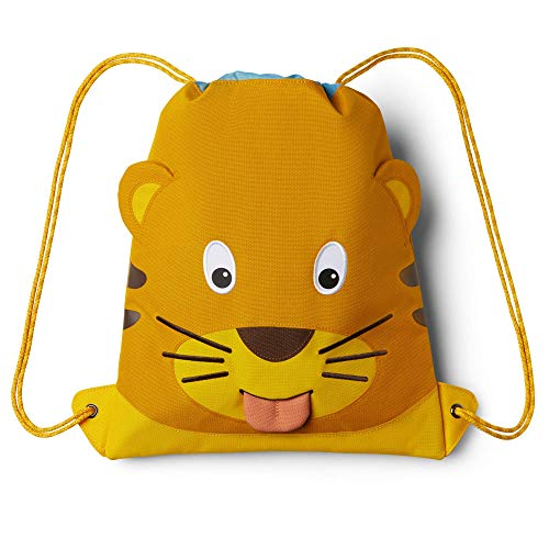 Affenzahn Turnbeutel - für Mädchen und Jungen Kinder 1-5 Jahre - Tiger - Gelb