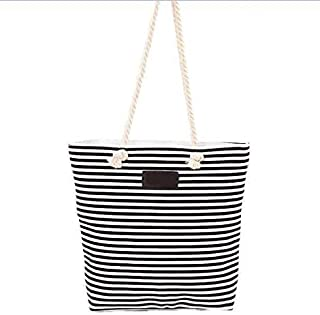 Bag For Women,Black - Canvas & Beach Tote Bags
