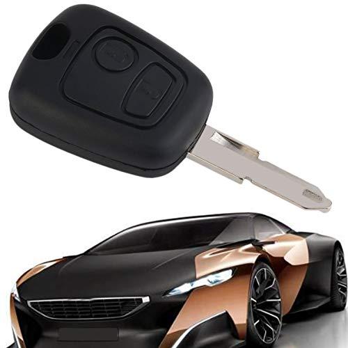 Peppydami Venta Caliente Reemplazo de 2 Botones Mando a Distancia Mando de Cuchilla para Peugeot 206 100% Nuevo y de Alta Calidad