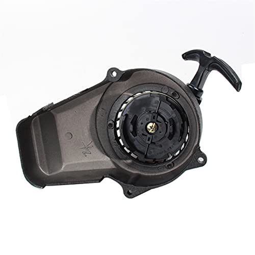 HLSP Aluminium Easy Pull Starter, for 47cc 49cc Minimoto Mini Pocket Bike Dirt Bike ATV Quad Crosser Motorcycle (Color : Black)