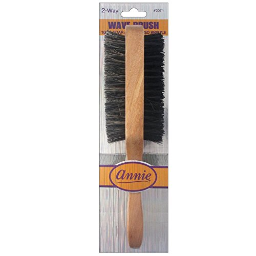 Annie- 2 Way Wooden Wave Brush #2071 - 100% Boar - Sturdy and Thick for Any Hair