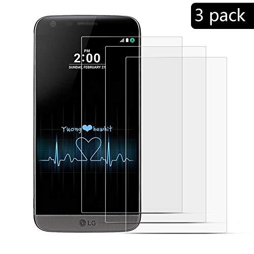 XCYYOO [3 Paquete]para LG G5 Protector de Pantalla, Cristal Vidrio Templado [Alta...