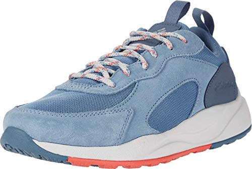 Columbia Women's Pivot Waterproof Hiking Shoe, Dark Mirage/Juicy, 6.5