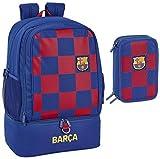 FC Barcelona - Mochila escolar con 3 compartimentos