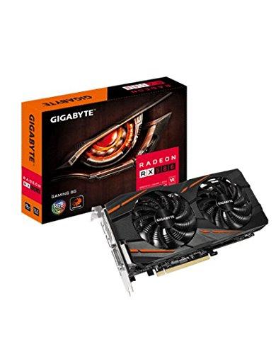 Gigabyte GV-RX580GAMING-8GD - Tarjeta Gráfica, RX 580 Gaming, 8 phases poder, 8GB, Negro